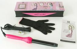 Brilliance New York 1″  Clipless Curling Iron, Pink, NEW!