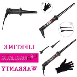 """Le Angelique 1/4 To 3/4"""" Tapered Curling Iron Wand W Glove &"""