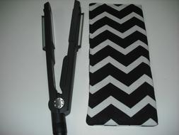 "1"" Flat Iron / Curling Iron Cover - Sleeve / Black & White C"