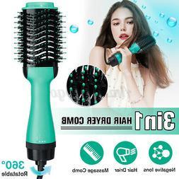 1200W 3 in 1 Hair Blow Dryer Brush Comb Hairs Straightener T