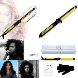 1inch pro ceramic curling iron w rotating