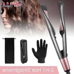 2 In 1 Hair Curler Straightener Professional Salon Curling H