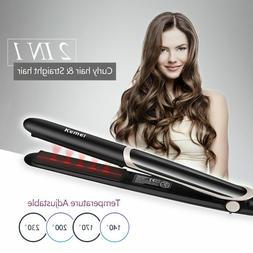 2 in 1 Pro Straightener Electric Curler Hair Straighting Fla