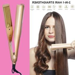 2 in 1 Twist Hair Curling & Straightening Iron Hair Curler I