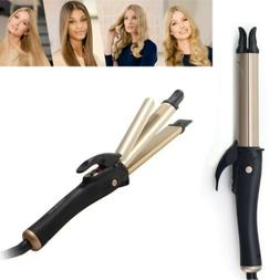 2 In1 Flat Iron Hair Straightener Curler Iron Twist Professi