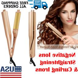 2 in1 negative ions hair straightener