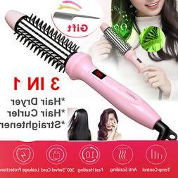 3In1 9 Temp LCD Wet Dry Hair Dryer Brush Straightener Curlin