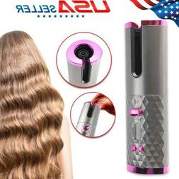 Cordless Auto Rotating Ceramic Hair Curlers USB Rechargeable
