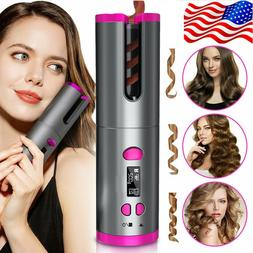 Cordless Auto Rotating Hair Curler Hair Waver Curling Iron W