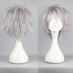 S-noilite Women Men Cosplay Hair Wig Short Straight Anime Pa