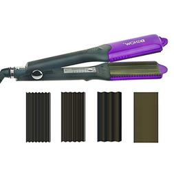 DSHOW 4 in 1 Hair Crimper Hair Waver Hair Straightener Curli