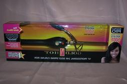 Gold 'N Hot Professional 24K Gold Spring-Grip Curling Iron,