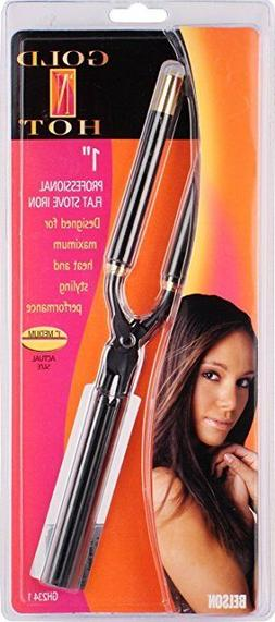 """Gold N Hot Stove Curling Iron Size 3/8"""",1/5"""",1/2"""",5/8"""",7/8"""","""