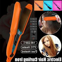 Hair Curling Iron Ceramic Hair Crimper Curler Wand Crimping