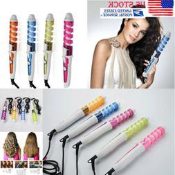Hair Electric Spiral Curling Iron Wand Roller Pro Wave Curl