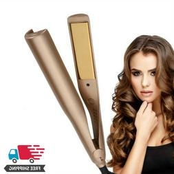 2 in 1 Curling Iron Hair Straightener And Curler US PLUG - L