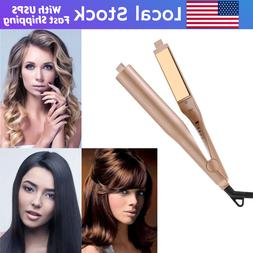 2 in1 Hair Straightener and Curler Negative Ions Flat Iron C