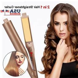 Hair Straightener Negative Ions Curling Iron 2 IN 1 Hair Car