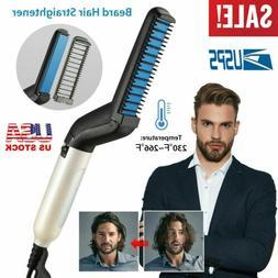 Hot Men Hair Straightener Comb Curling Iron Beard Electric C