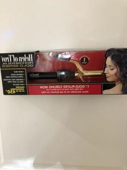 "Hot Shot Tools Helen Of Troy 1"" Salon Curling Iron-24k Gol"