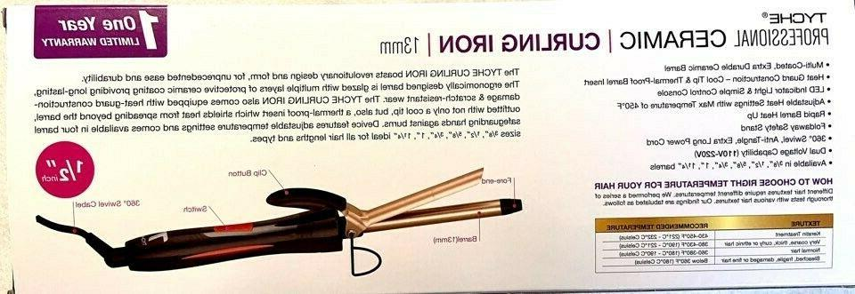 Tyche barrel Professional Ceramic Curling Iron,