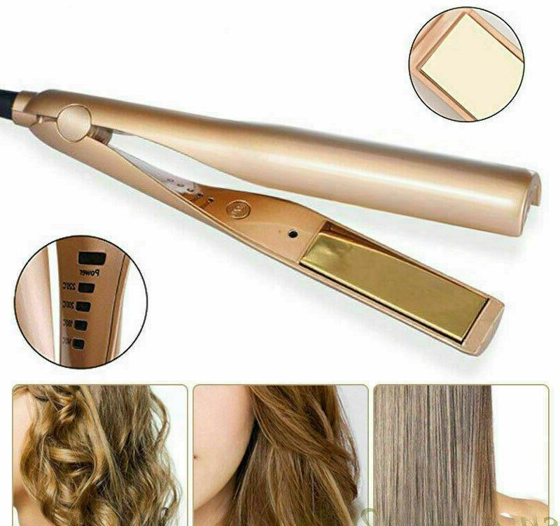 100% Iron Hair Straightening Curling Plated Titanium