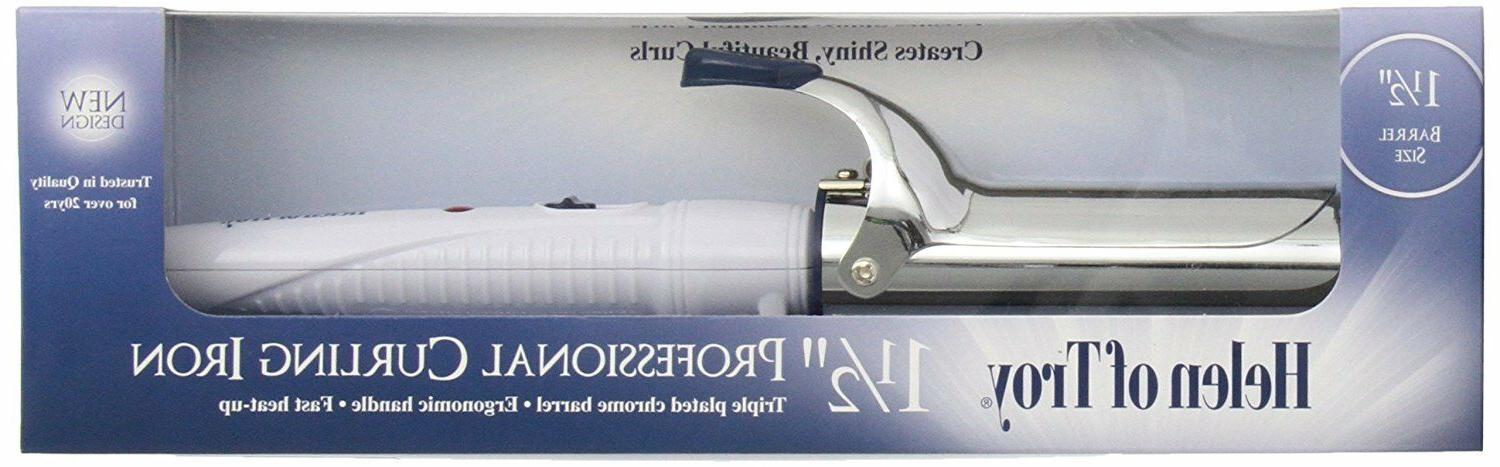 Helen Of Troy 1518 Spring Curling Iron, White, 1 1/2 Inches