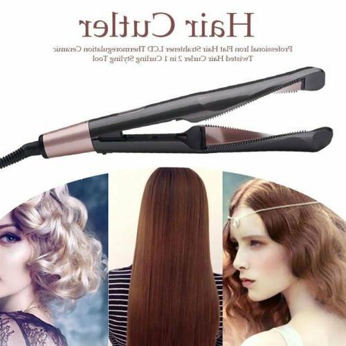 2 in1 curling iron hair straightener