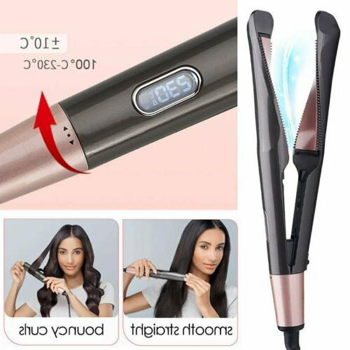 2 in1 Hair Straightener Curler Curling Iron US