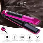 2 in 1 LED Wireless USB Rechargeable Hair Straightener Curle