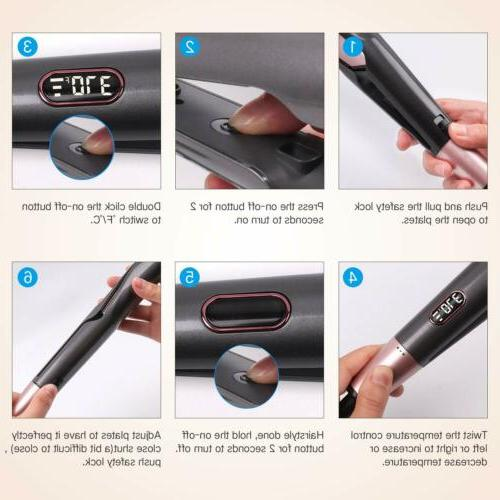 2 In1 Iron Hair Straightener Salon PRO Curling Hair