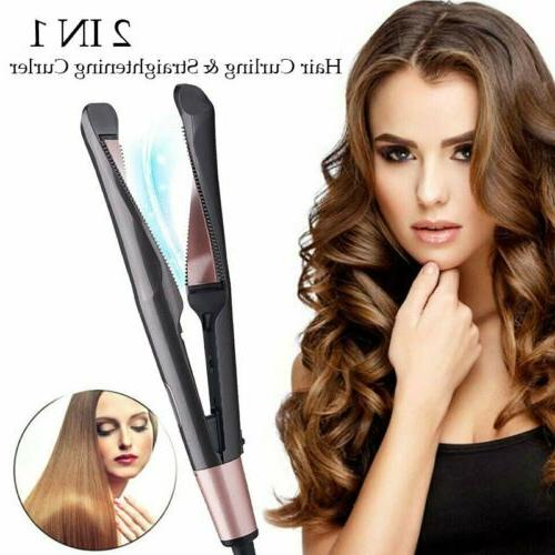 2 in1 hair straightener curler styler negative