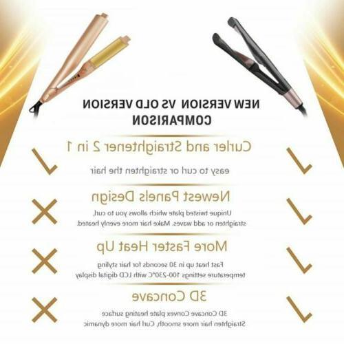 2in1 Hair Curler Straightener