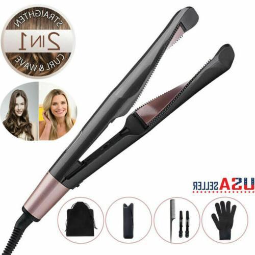 2in1 hair curler straightener twist curling flat