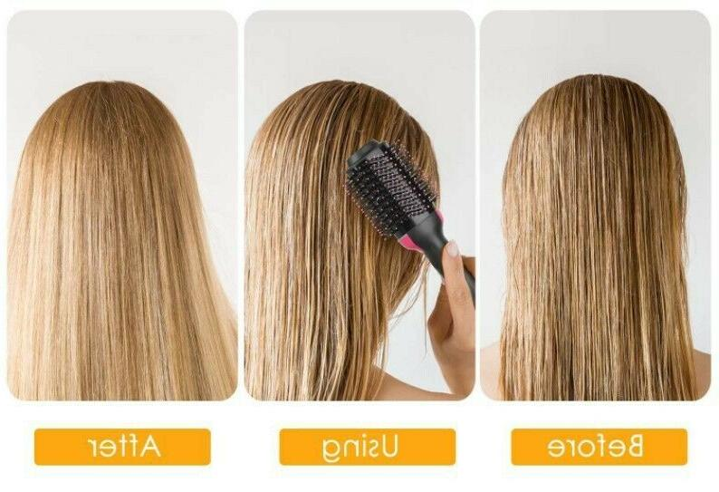 3 Hair Dryer Brush Straightening Iron Comb