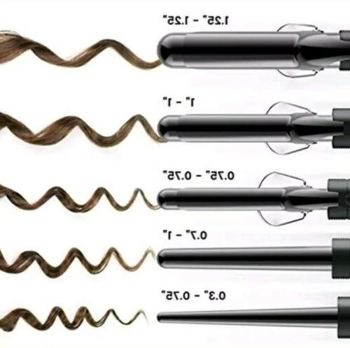 Xtava 5 In Professional Curling Iron Wand 0.3 1.25""