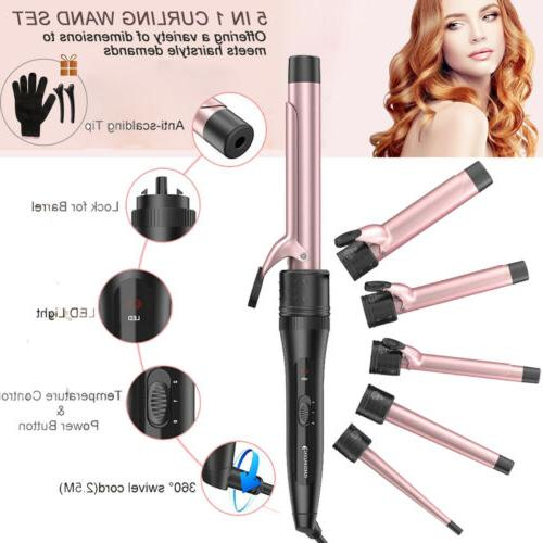 5 in1 curling iron hair straightener salon