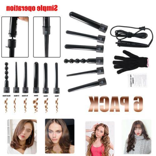 6In1 Hair Interchangeable Iron Wand Set