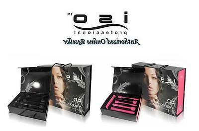 ISO Beauty Authentic NIB 5P Curling Iron Wand 5 Interchangea