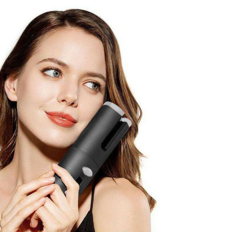 Portable Cordless Auto-rotating Hair Curlers Hair Waver Curl