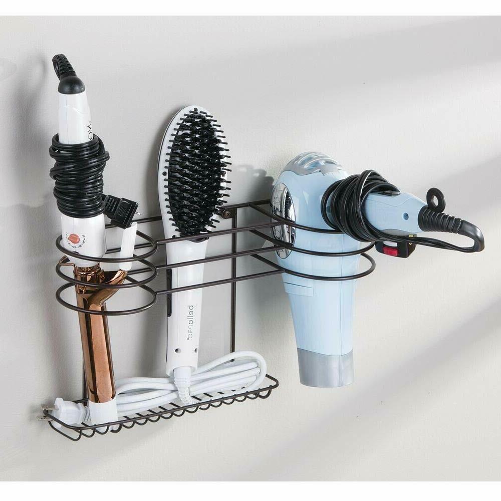bathroom wall mount hair tools organizer dryer