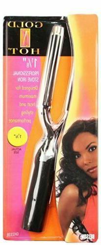 """Belson Gold N Hot Stove Curling Iron Size 1/5"""", 1 1/8"""",1 1/2"""