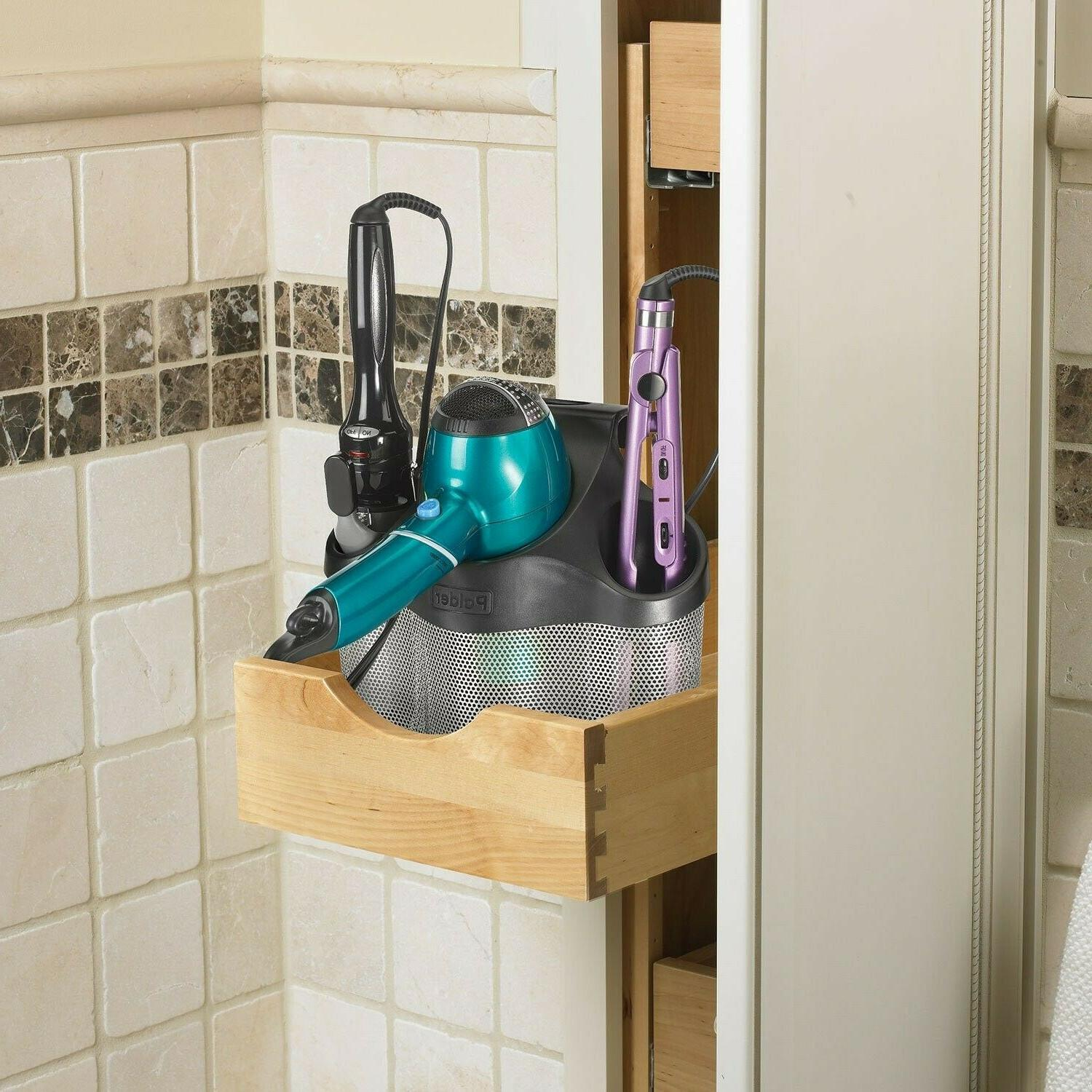 Blow Dryer Curling Stand Wall Mount Bathroom
