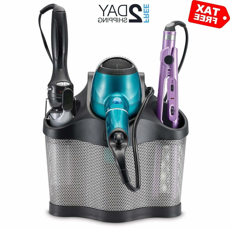blow dryer holder storage curling flat iron