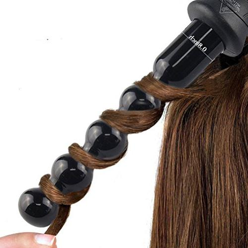bubble curling iron with thermostat lcd display