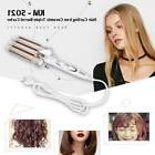 Hair Curling Ceramic Iron Triple Curler Waver Barrel Digital