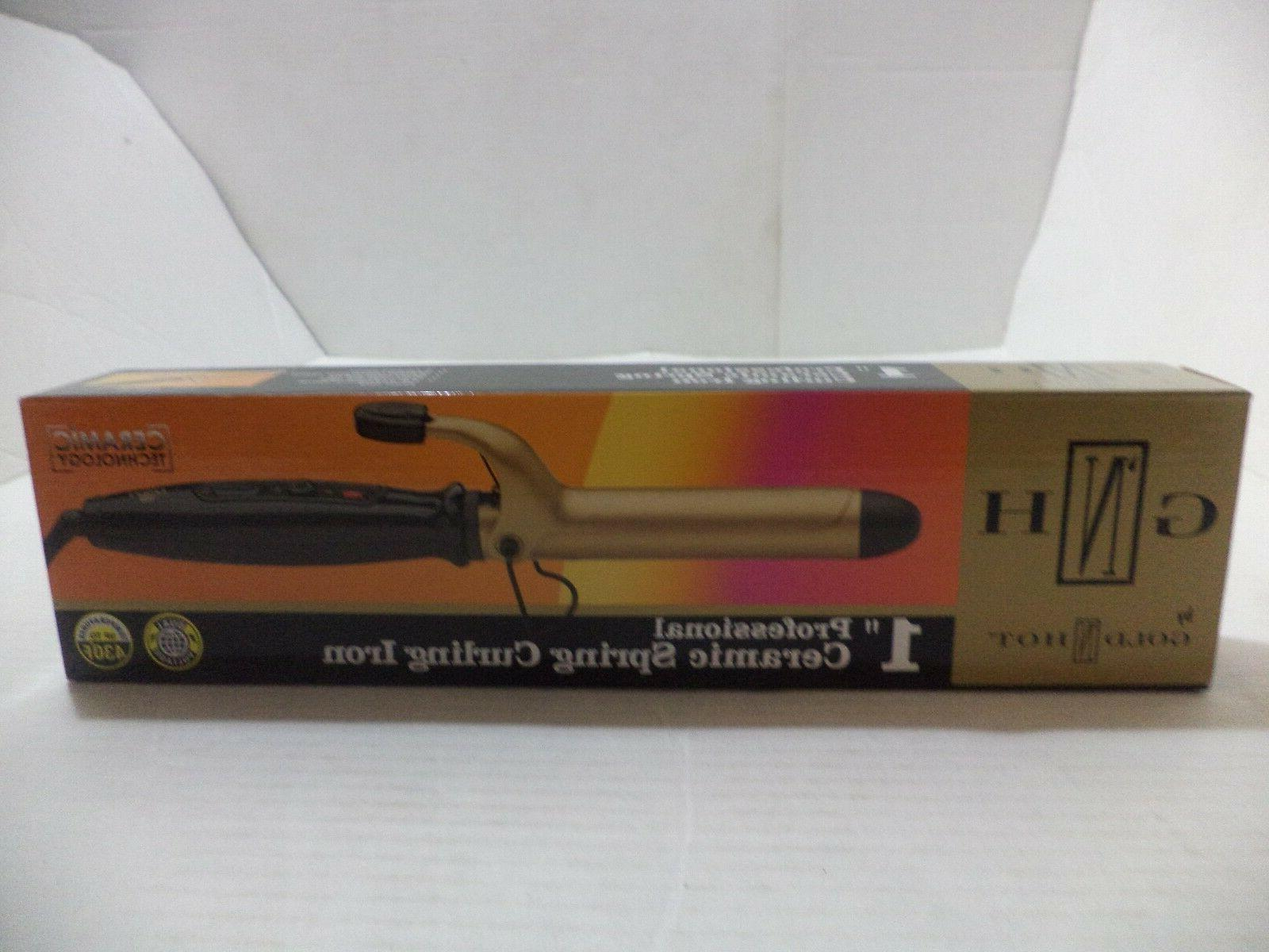 "Gold N Hot Ceramic Round Hair 1"" Hot Curling Iron Round 6ft"