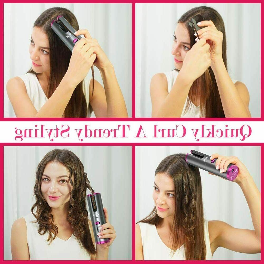 Cordless Automatic Hair Curler Iron,First Iron with