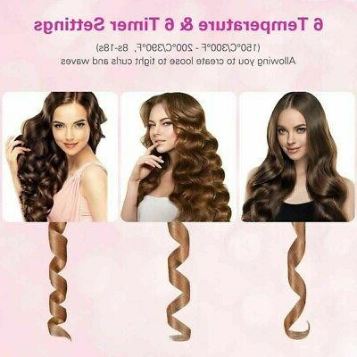 Cordless Rotating Curler Waver Curling Iron Wireless