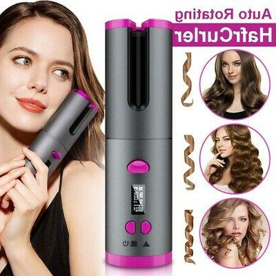 cordless automatic rotating hair curler hair waver